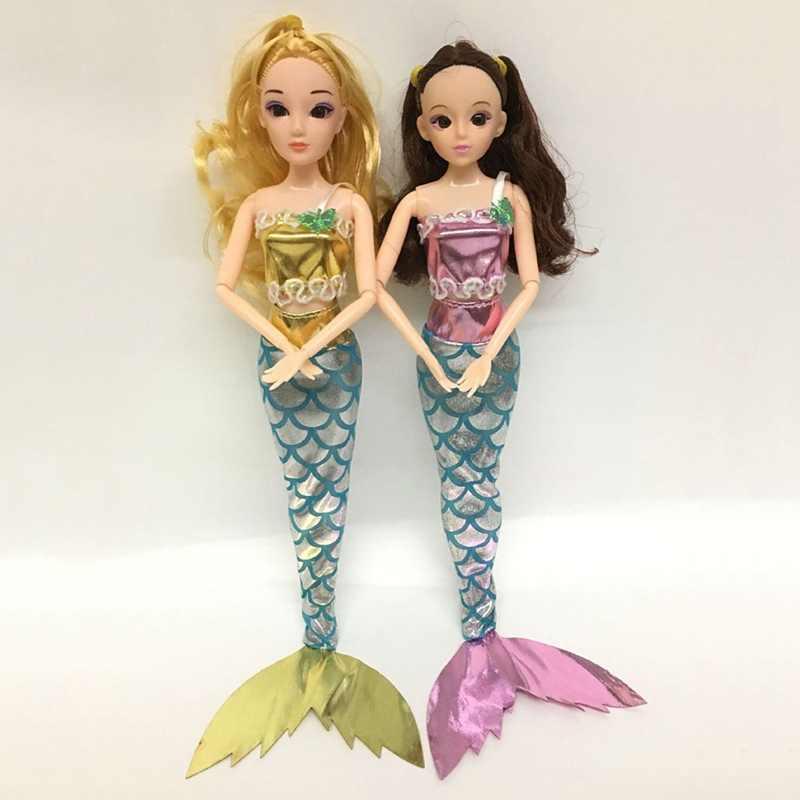 1 piezas de cola de sirena traje de baño vestido de traje accesorios conjunto traje para 11 pulgadas muñeca ropa de fiesta chica, niños, juguete de muñeca de tela