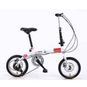 16 inch men and women portable folding bicycle adult children students variable speed disc brake bicycle bike