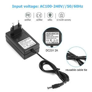 Image 4 - 21V 2A 18650 chargeur de batterie au Lithium DC 5.5x2.5mm prise adaptateur secteur chargeur pour 18490 14650 14514430 batterie