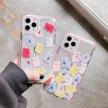 cute Cartoon Little bear Cover Case For iPhone