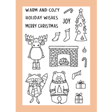 ZATWBS Merry Christmas Clear Stamps For DIY Scrapbooking/Card Making/Album Decorative Rubber Stamp Crafts merry christmas trees sticker painting stencils for diy scrapbooking stamps home decor paper card template decoration album
