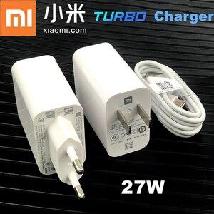 Image 1 - Xiaomi Mi 10 chargeur rapide Original 27w QC 4.0 adaptateur chargeur Turbo rapide Usb Type C câble pour Mi 9 T SE 10 pro k30 pro A3 Mix 3