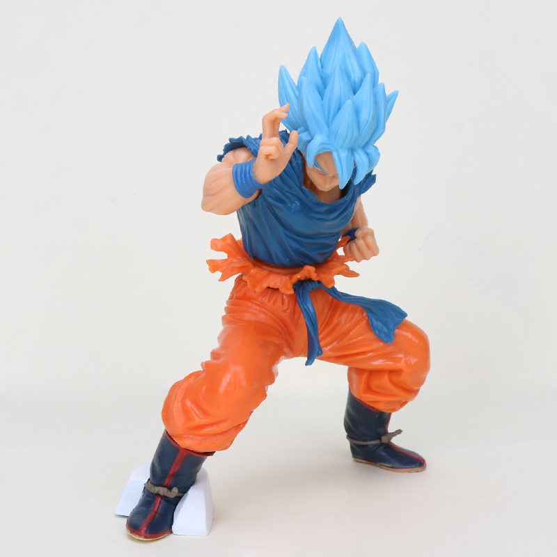 Image 2 - 20cm Dragon ball figure Super Saiyan 4 God SS Blue Hair goku Dragonball Goku Collection Figure Toy-in Action & Toy Figures from Toys & Hobbies