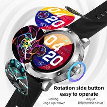 K15 relógio inteligente masculino novo menu de rolamento esportes fitness rastreador temperatura smartwatch changable cinta para ios android telefone