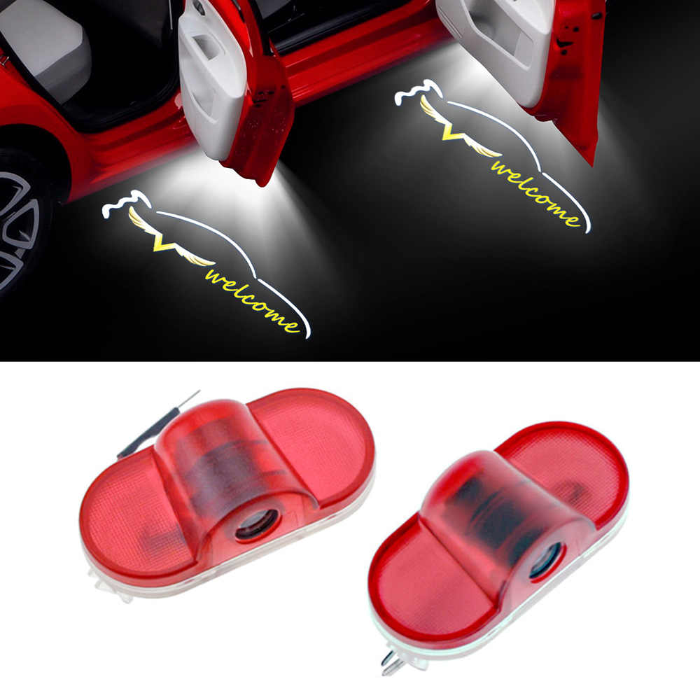 1-20 par de luz da porta do carro sombra projetor laser logotipo luzes para volkswagen vw golf 4 mk4 carro tuning acessórios