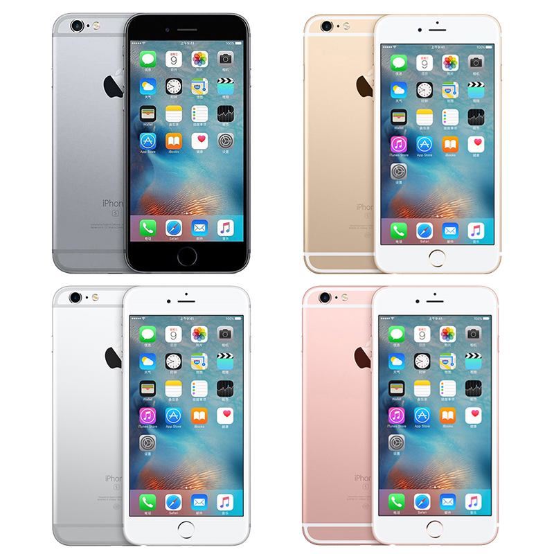 Apple A9 iPhone 6s 2GB 16/64/128gb-rom 16gb Dual Core Fingerprint Recognition Used IOS
