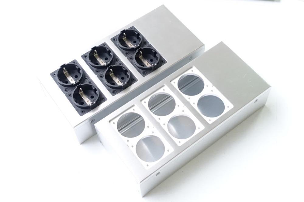 Full Aluminum HIFI EU Power Case European Standard Power Socket Chassis HiFi DIY Box