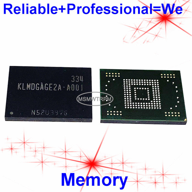 KLMDGAGE2A A001 BGA169Ball EMMC 128GB Mobilephone זיכרון חדש מקורי ושנייה יד מולחם כדורי נבדק בסדר