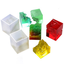1pcs Snow Mountain Peak Broken Mountain Ocean Epoxy DIY Silicone Mould Micro Landscape Crystal
