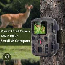 1080P Hunting Camera 12MP Wildlife Photo Trap Trail Camera IP66 Infrared Night Vision Outdoor Activated Monitor Scouting Mini301