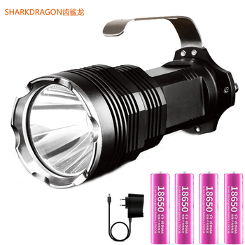 High-power high-light flashlight rechargeable Waterproof camping 5 lighting mode searchlight use 4*18650 battery