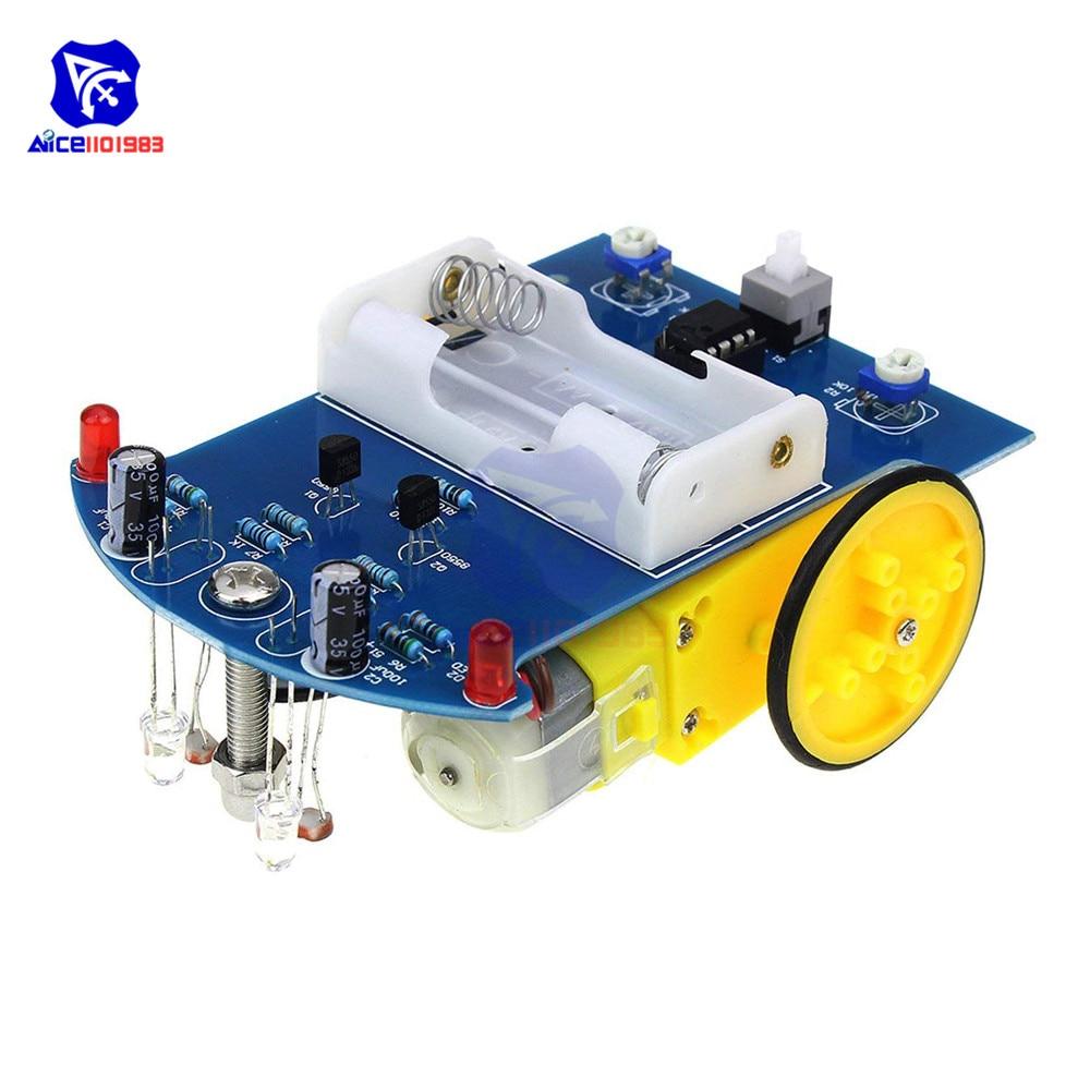 D2-1 DIY Kit Intelligent Tracking Line Smart Car Kit For Arduino Reflectance Optical Switch Robot Car