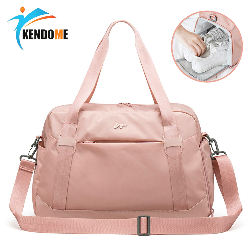 Sport Bag For Women Fitness Pink Gym Bag With Shoe Compartment Crossbody Bags For Swimwear Women 2019 Light Weight Portable Bag