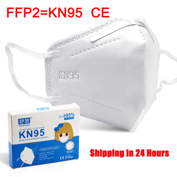 1-80 Pcs KN95 Kids Face Masks Student Breathable Anti Dust PM2.5 FFP2 Children's Mask Boy and Girl Protective Mask Mascarillas