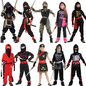 Umorden Halloween Costumes Boys Dragon Ninja Costume Girls Warrior Cosplay Carnival Party Fancy Dress Up for Kids Children umorden child kids wonderland alice costume for girls teen girl maid lolita cosplay dress halloween carnival party costumes