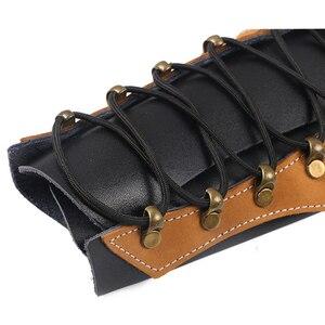 Кожаный широкий браслет для стрельбы из лука с повязкой на руку Viking Bracer Gauntlet