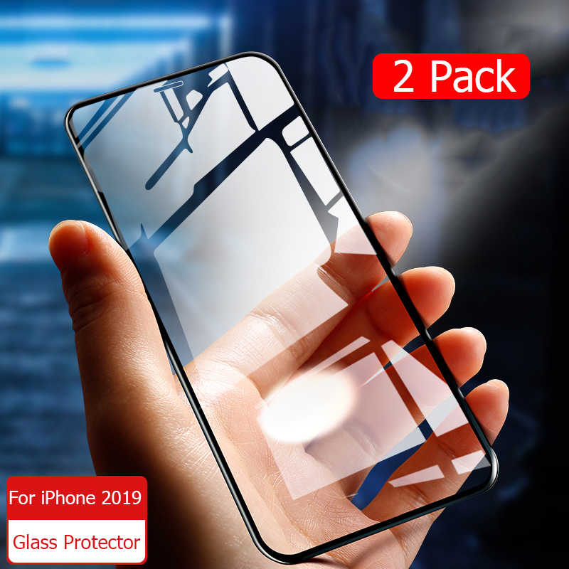 For iPhone 11 Pro glass Tempered Glass Full Cover Screen Protector For iPhone 11 Pro Max 2019 Film Armored Glass