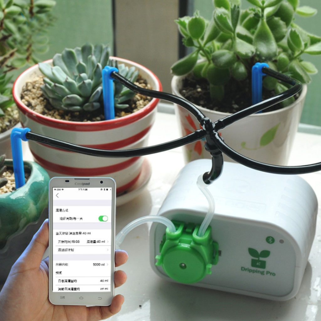 Mobile Phone Control Timing Intelligent Plant Drip Irrigation Tool Water Pump Timer System Garden Automatic Watering Device J25