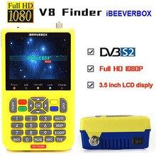 цена на DVB-S2 V8 Finder Digital Satellite Finder Meter SatFinder Full HD FTA 3.5inch LCD for Satellite Receiver Receptor