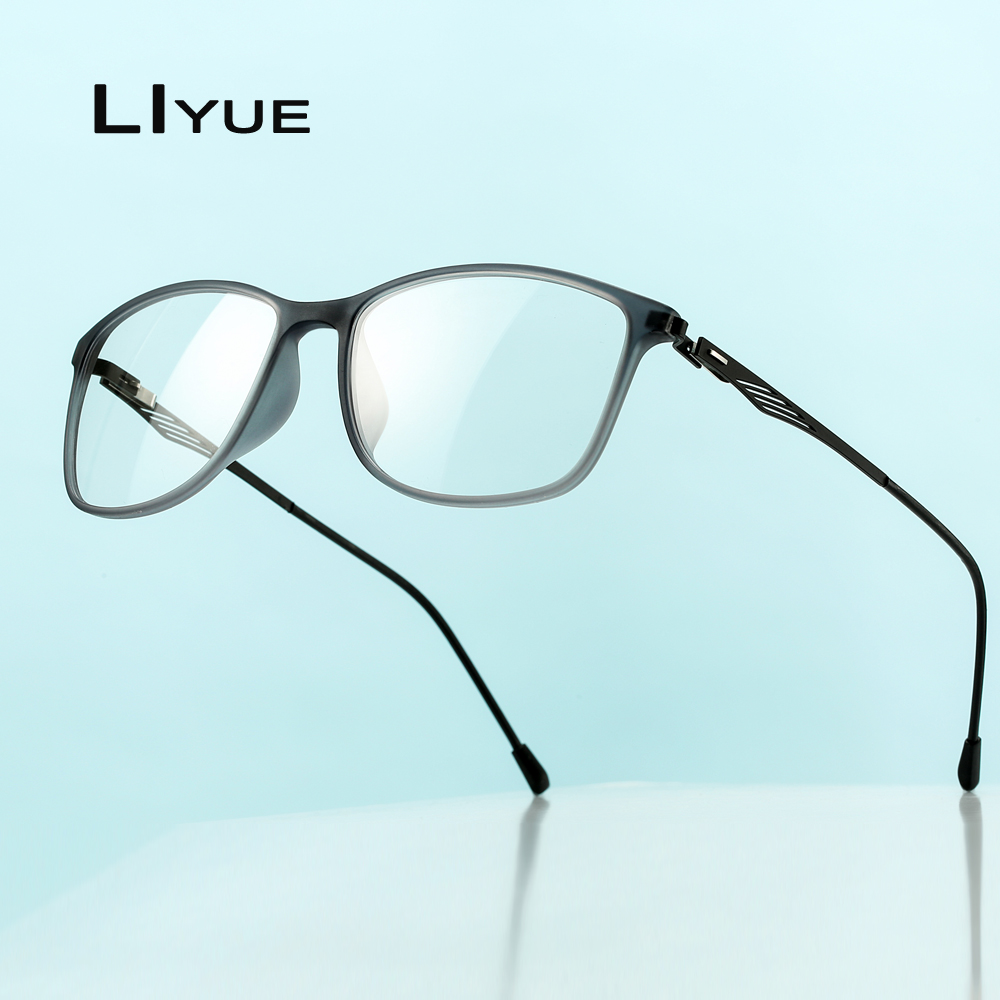 Optical Eye Glasses Frame Ultralight Retro Prescription Myopia Eyeglasses Plastic Titanium TR90 Frame Clear Lens For Men Women