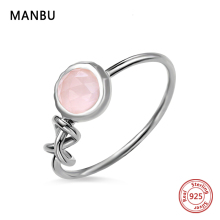 MANBU Custom Infinity Knot Ring With moonstone 925 sterling silver ring for women fashion jewelry anniversary gift FREE shipping manbu custom infinity knot ring with moonstone 925 sterling silver ring for women fashion jewelry anniversary gift free shipping