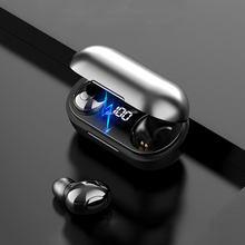 T8 tws bluetooth 5.0 fones de ouvido com caixa de carregamento sem fio hd estéreo esportes à prova dwaterproof água fones com microfone