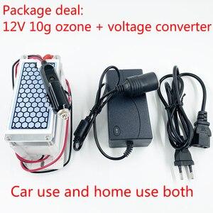 Image 5 - 24 جرام 10 جرام المحمولة مولد أوزون 220 فولت 110 فولت 12 فولت لتنقية الهواء المعالج بالأوزون معقم للاستخدام المنزلي أو السيارة