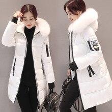 Новинка, парка, женские зимние пальто, женские длинные хлопковые повседневные меховые куртки с капюшоном, теплые парки, Женское пальто, пальто