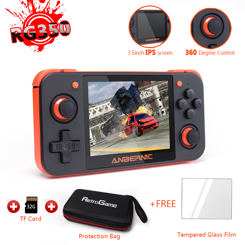 RG350-Retro Game Console Video Game Handheld Support PS1 Games, 3.5inch IPS Screen Portable Game Player Rg350