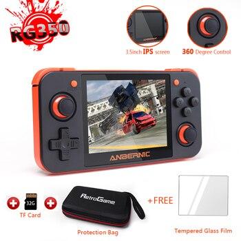 RG350-Retro Spiel Konsole Video Spiel Handheld unterstützung PS1 spiele, 3,5 inch IPS bildschirm tragbare spiel player rg350