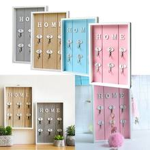 "New-INS Scandinavian Style Wall Decoration Handmade Wooden ""HOME"" Key Box Creative Key Box Wall Creative Room Decoration Mural M(China)"