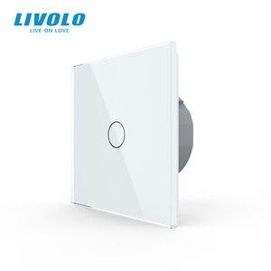 Image 1 - Livolo interruptor do sensor de toque da parede de luxo, interruptor de luz, vidro de cristal, tomada de energia, tomadas multifuncionais, escolha livre, nenhum logotipo