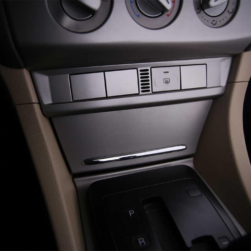 Un pequeño cambio ABS cromado Cenicero luz Cenicero decoración tira pegatinas ajuste para Ford Focus 2 MK2 2005-2011 2012