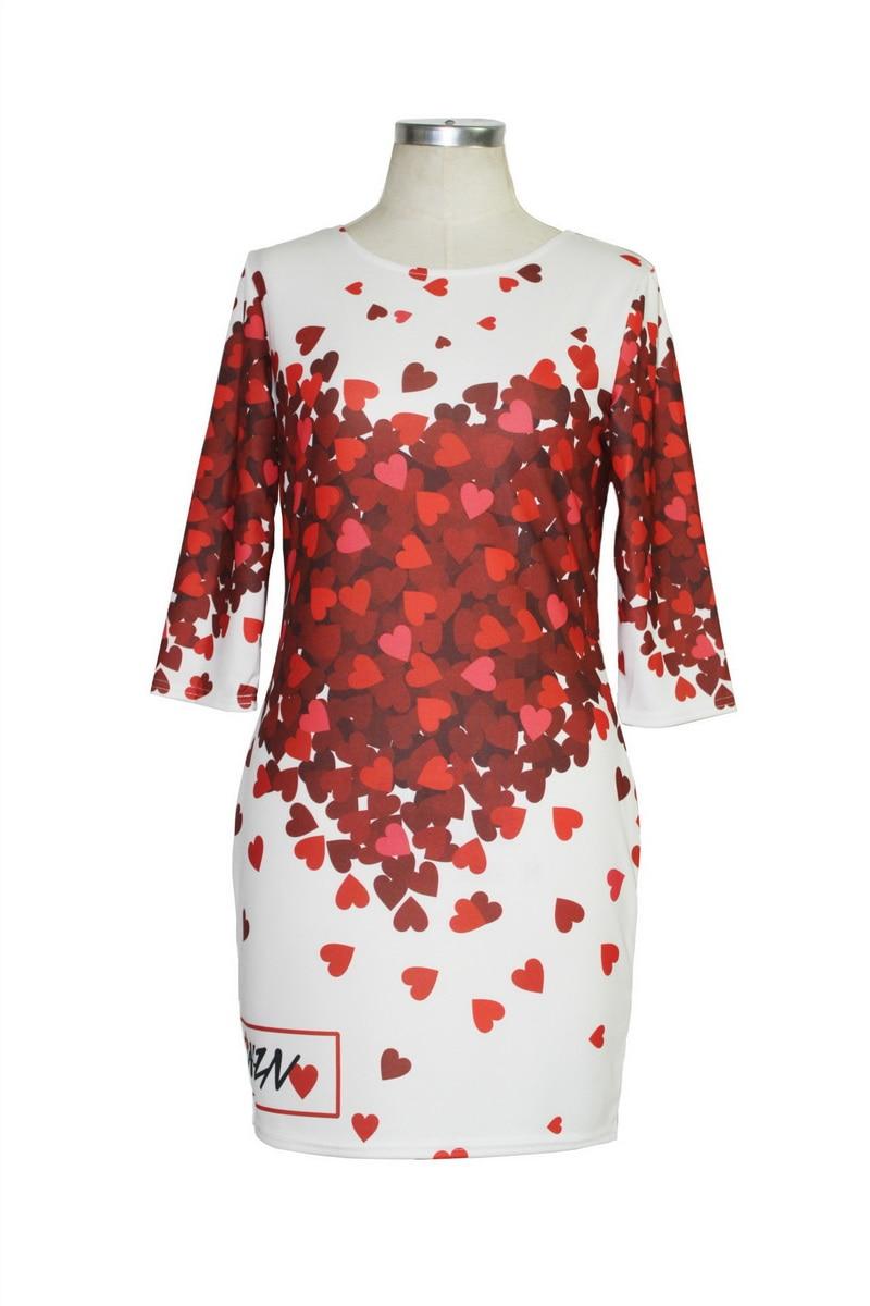 H27c05b3bfdd944de8d7dd5e3ef859d346 Cute Cartoon Printing Summer Dress Women Sheath Half Sleeve Bodycon Vestidos O Neck Elegant Mini Casual Ladies Dress
