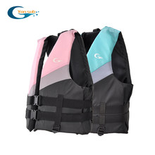 Adult Life Vest Thicken High Buoyancy Life Jacket Water Sports Equipment For Rafting Swimming Sailing Boating Blue & Pink YL1233(China)