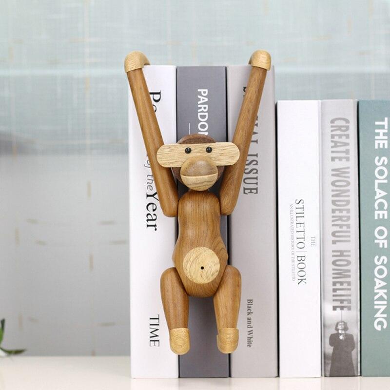 De Madera colgante muñecos mono Moda Nórdica diseño Animal tallado madera regalos de artesanía, decoración para el hogar, Accesorios, decoración para sala de estar|Figuras y miniaturas|   - AliExpress