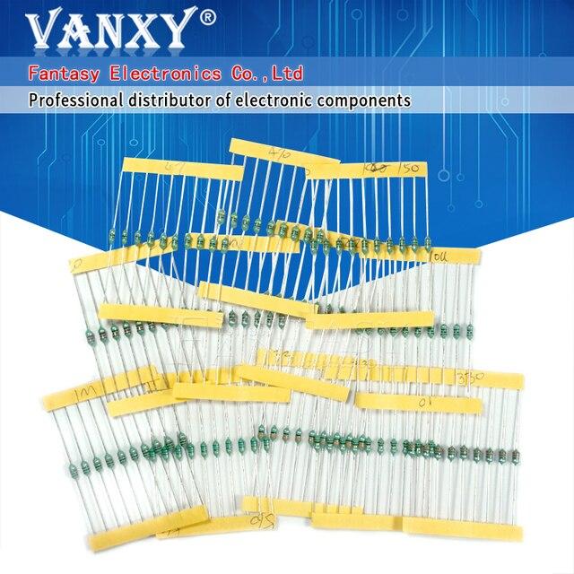 12valuesX10 Uds. = 120 Uds. 0307 1/4W 0,25 W inductor 1uH 1MH componente muestra surtido kit nuevo y