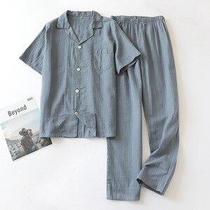Image 5 - Tươi Nữ Tay Ngắn Mùa Hè Pyjamas Nữ 100% Gạc Cotton Đồ Ngủ Nữ Hàn Quốc Bộ Đồ Ngủ Bộ Nữ Homewear Mới Bán