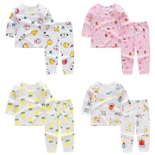 Spring Infant Baby Girls Clothes Sets Outfits Cotton Cartoon Suit For Newborn Baby Boys Girls Clothing pajamas Sets цена 2017