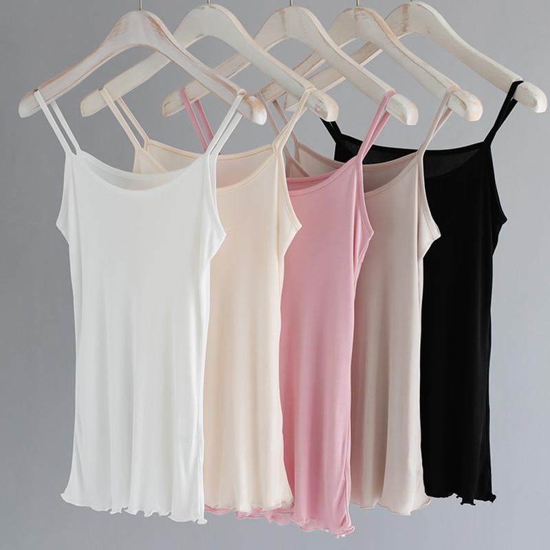 Energetic Camisoles For Women Natural Real Silk Camis Halter Tops Singlet Sexy Femme Underwear Lingerie Undershirt Ladies Tank Tops Summer