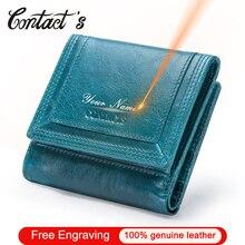 Contact's Genuine Leather Women Wallet Mini Wallet