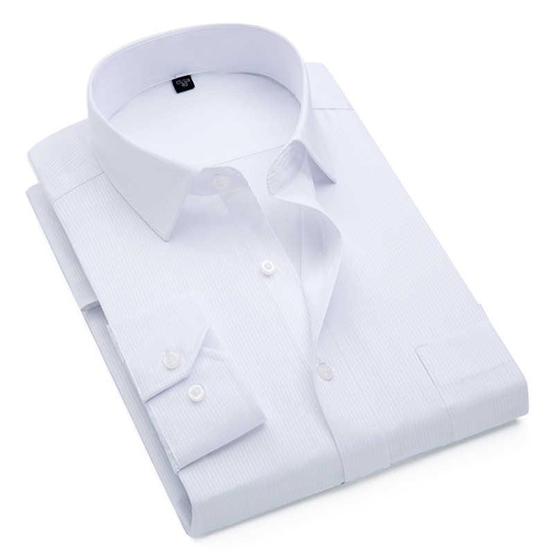 남자 스트라이프 턱시도 셔츠 남자 드레스 셔츠 긴 소매 캐주얼 슬림 맞는 공식 비즈니스 디자이너 고품질 빅 패션 플러스 4xl