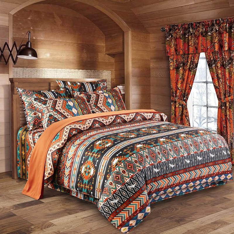 3d Bohemian Bedding Sets Boho Printed Mandala Duvet Cover Set With Pillowcase Queen Size Bedlinen Home Textile