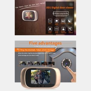 Image 2 - 2.8 بوصة LCD اللون شاشة جرس الباب الرقمي مستشعر حركة بالأشعة تحت الحمراء طويلة الاستعداد للرؤية الليلية HD كاميرا في الهواء الطلق جرس الباب