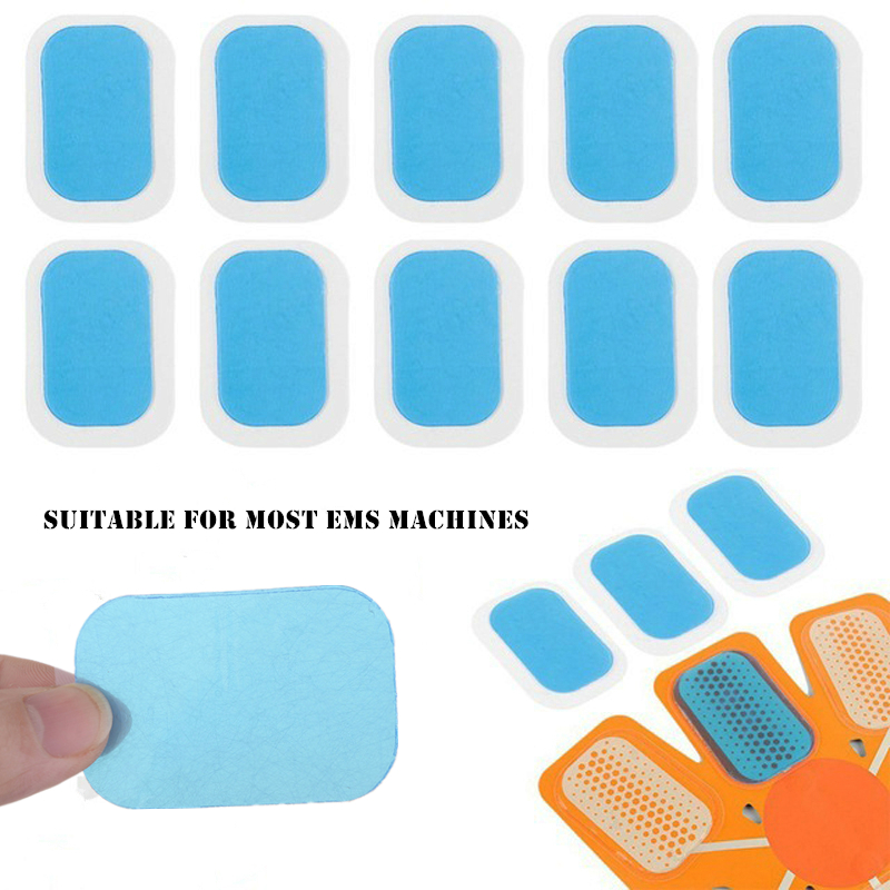20Pcs 10Pcs Gel Pads For EMS Abdominal ABS Trainer Weight Loss Hip Muscle Stimulator Exerciser Replacement Massager Gel Patch