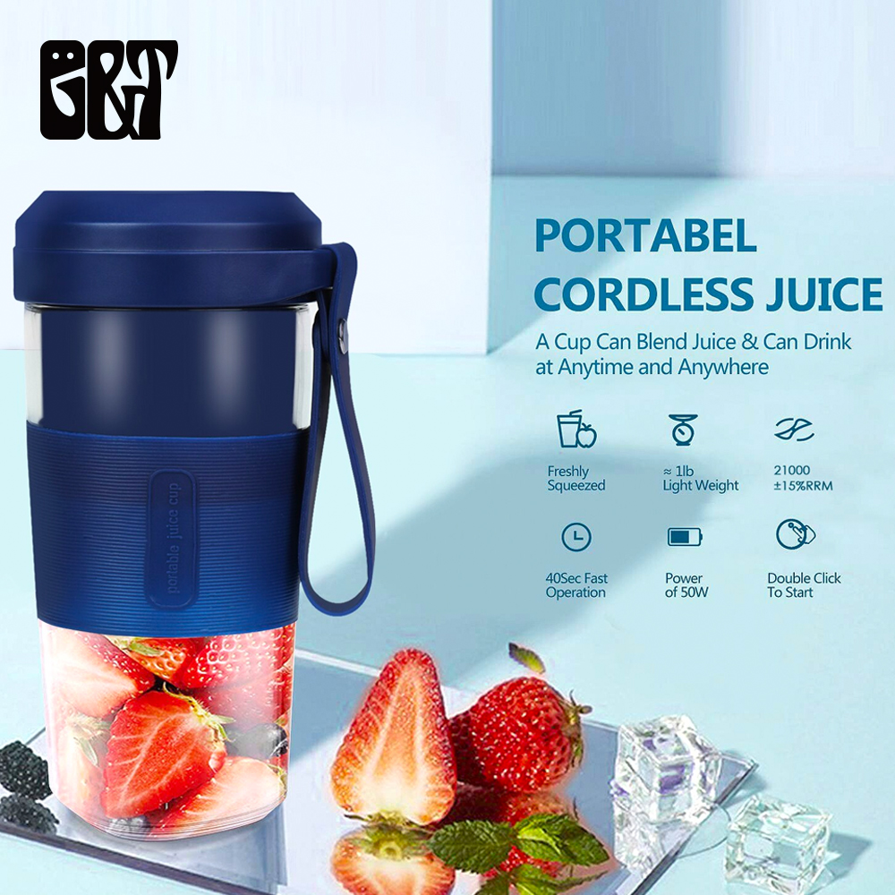 2nd Generation USB Rechargeable Portable Juicer 6 Blades Blender Juicer Cup More Powerful Juice Maker Cup Mixer Bottle Portable