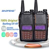 מכשיר הקשר dual band 2pcs Baofeng UV-6R 7W Dual Band VHF UHF רדיו מכשיר הקשר Ham Radio Hf משדר Walky טוקי מקצועי מכשיר הקשר (1)