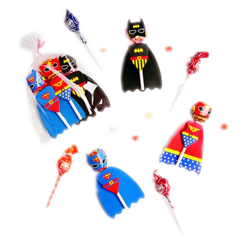 54Pcs Superhero Mermaid Cartoon Animal Candy Lollipop Decoration Cards For Kids Birthday Party Supplies Candy Gift Accessories
