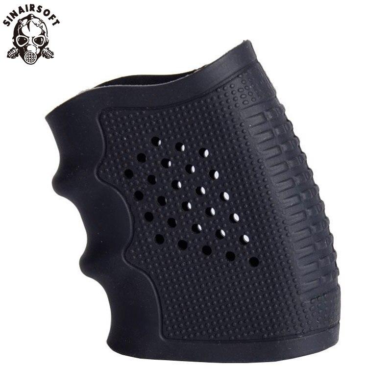Eldiven kol örtüsü Anti kayma çoğu Glock 17 19 tabanca avcılık aksesuarları taktik tabanca kauçuk kavrama kılıfı dergi