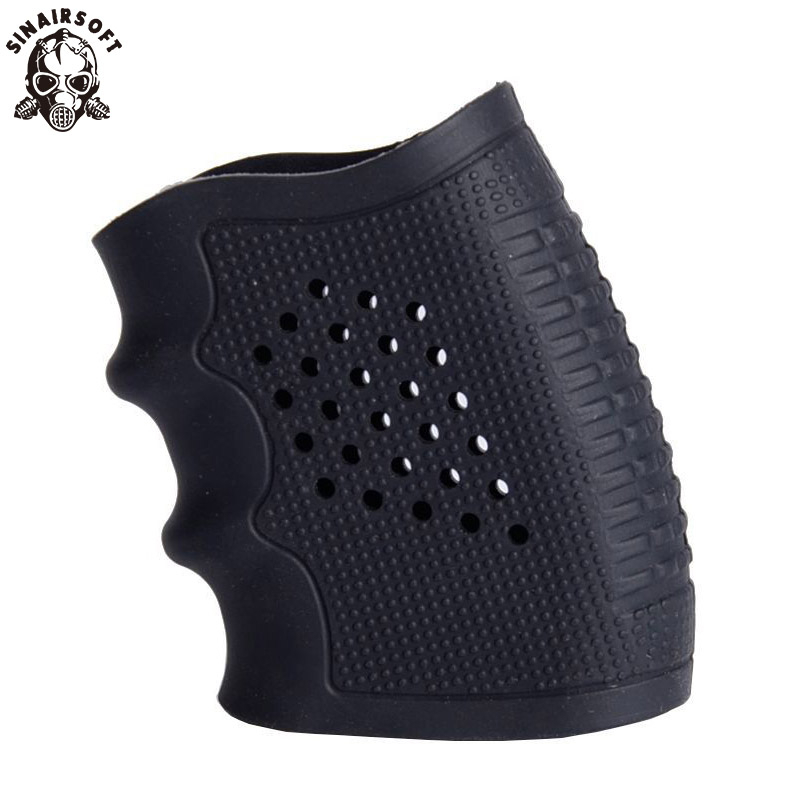 Glove Cover Sleeve Anti Slip For Most Of Glock 17 19 Handguns Hunting Accessories Tactical Pistol Rubber Grip Holster Magazine